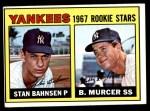 1967 Topps #93   -  Bobby Murcer / Stan Bahnsen Yankees Rookies Front Thumbnail