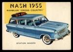 1954 Topps World on Wheels #178 BLU  Nash Rambler 1955 Front Thumbnail