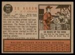 1962 Topps #342  Ed Rakow  Back Thumbnail