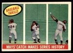 1959 Topps #464   -  Willie Mays Catch Makes Series History Front Thumbnail