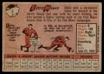 1958 Topps #8 YN Eddie Kasko  Back Thumbnail