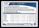 2013 Topps #114  Casey McGehee   Back Thumbnail