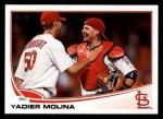 2013 Topps #4  Yadier Molina   Front Thumbnail
