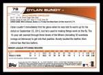 2013 Topps #78  Dylan Bundy   Back Thumbnail