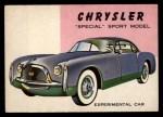 1954 Topps World on Wheels #86   Chrysler Special Sport Front Thumbnail