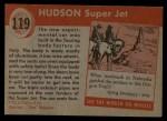 1954 Topps World on Wheels #119   Hudson Super Jet Back Thumbnail