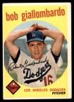1959 Topps #321 OPT Bob Giallombardo  Front Thumbnail