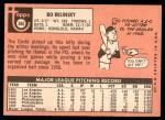 1969 Topps #366  Bo Belinsky  Back Thumbnail