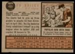 1962 Topps #459  Ed Bailey  Back Thumbnail