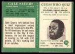 1966 Philadelphia #38  Gale Sayers  Back Thumbnail