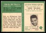 1966 Philadelphia #31  Dick Butkus  Back Thumbnail