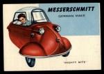 1954 Topps World on Wheels #174 BLU  Messerschmitt Front Thumbnail