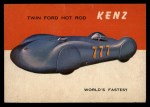 1954 Topps World on Wheels #38   Kenz Twin Ford Front Thumbnail