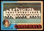 1975 Topps #246   -  Red Schoendienst Cardinals Team Checklist Front Thumbnail