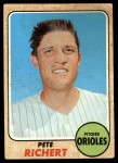 1968 Topps #354  Pete Richert  Front Thumbnail