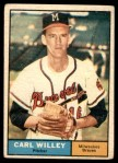 1961 Topps #105  Carl Willey  Front Thumbnail