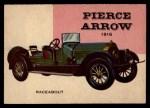 1954 Topps World on Wheels #64   Pierce-Arrow Raceabout 1916 Front Thumbnail