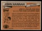1981 Topps #80  John Hannah  Back Thumbnail