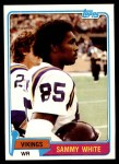 1981 Topps #183  Sammie White  Front Thumbnail