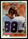 1981 Topps #74  Mike Friede  Front Thumbnail