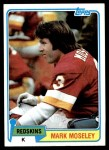 1981 Topps #145  Mark Moseley  Front Thumbnail