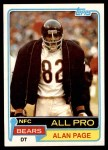 1981 Topps #160  Alan Page  Front Thumbnail