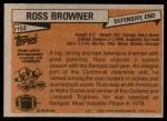 1981 Topps #152  Ross Browner  Back Thumbnail