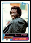1981 Topps #20  Lester Hayes  Front Thumbnail