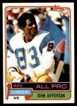 1981 Topps #190  John Jefferson  Front Thumbnail