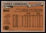 1981 Topps #35  Harold Carmichael  Back Thumbnail