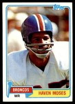 1981 Topps #187  Haven Moses  Front Thumbnail