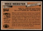 1981 Topps #10  Mike Webster  Back Thumbnail