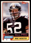 1981 Topps #10  Mike Webster  Front Thumbnail