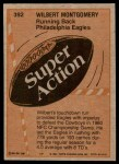 1981 Topps #392  Wilbert Montgomery  Back Thumbnail