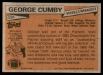 1981 Topps #228  George Cumby  Back Thumbnail