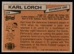 1981 Topps #349  Karl Lorch  Back Thumbnail