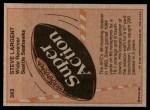 1981 Topps #343  Steve Largent  Back Thumbnail