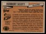 1981 Topps #204  Herb Scott  Back Thumbnail