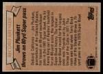 1981 Topps #335   -  Jim Plunkett Record Breaker Back Thumbnail