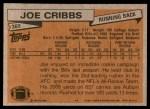 1981 Topps #360  Joe Cribbs  Back Thumbnail