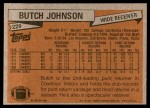 1981 Topps #229  Butch Johnson  Back Thumbnail
