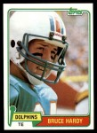 1981 Topps #444  Bruce Hardy  Front Thumbnail