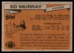 1981 Topps #440  Ed Murray  Back Thumbnail