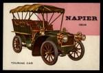 1954 Topps World on Wheels #104   Napier Touring Car 1904 Front Thumbnail