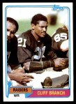 1981 Topps #403  Cliff Branch  Front Thumbnail