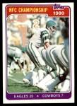 1981 Topps #492   NFC Championship Front Thumbnail