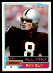 1981 Topps #510  Ray Guy  Front Thumbnail