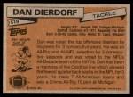 1981 Topps #519  Dan Dierdorf  Back Thumbnail