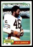 1981 Topps #427  Pete Johnson  Front Thumbnail