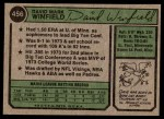 1974 Topps #456  Dave Winfield  Back Thumbnail